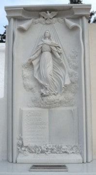 Lapida-tallada-ascensión-Virgen-Mármoles-Sánchez-Cazorla